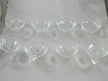 A set of eight Waterford crystal comports