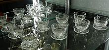 A set of 8 Waterford crystal 'Lismore' pattern comports.