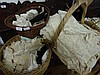Various lace and crochet edgings, bed spread, table cloths and damask