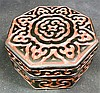 A Chinese Guri Lacquer Octagonal Box and Cover