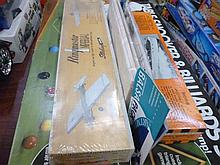 Billiard table set and model plane and boat