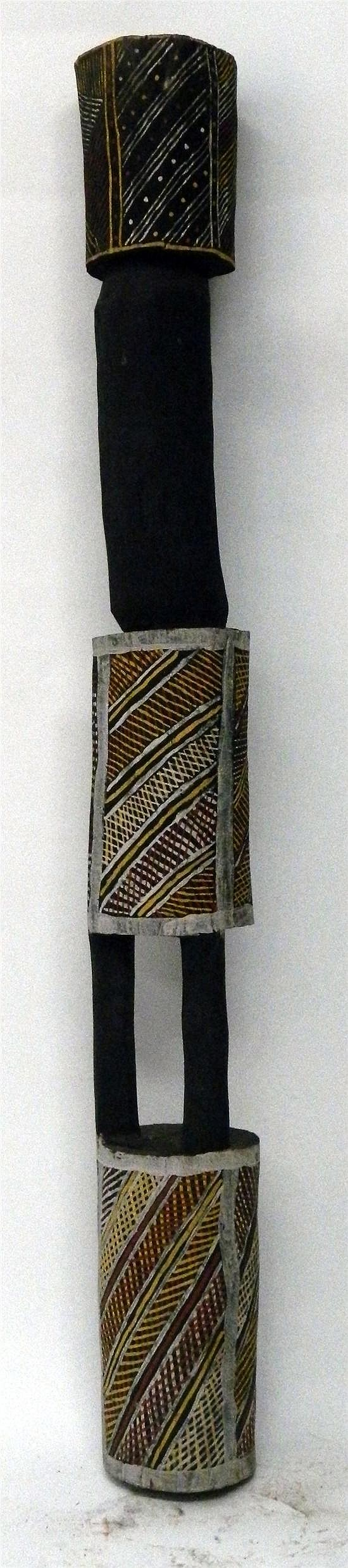 Artist Unknown Tiwi Islands Pukami Pole 2002 Earth pigment on Iron Wood