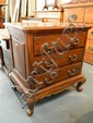 A French Provincial Style Mahogany Bedside Chest of Drawers