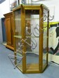 Early 20th century Tall Glass Shop Display Cabinet with Glass Shelves