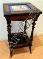 A French 19th Century Thuya & Sevre Style Porcelain Inlaid Side Table
