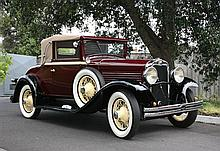 A 1929 Marmon Roosevelt Collapsible Coupe