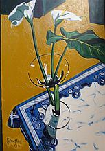 Ray Johnstone Lilies I & Lilies II (2) Each oil on canvas
