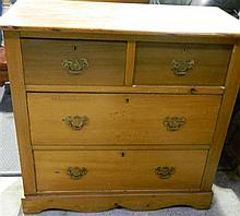An Edwardian Chest of Four Drawers
