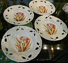 Four antique Victoria Ceramic plates