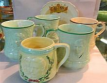 A collection of Royal Commemorative ceramics.
