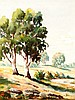Charles Frydrych (1930 - 90) Europe, Australia Bend in the Stream watercolour