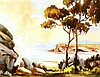 Charles Frydrych (1930 - 90) Europe, Australia The Headland watercolour