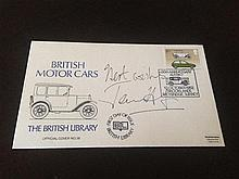 A James Hunt signed First day Cover 'British Motor Cars'