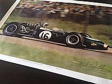 A Jack Brabham signed poster