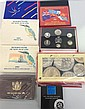 A collection of assorted New Zealand uncirculated coin sets and proof sets [9]