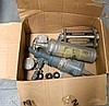 A carton of industrial sundries inc fire extinguisher, extractor etc