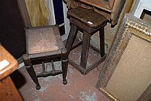 Two various timber stools