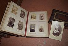 Two leather bound photographic portrait albums