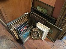 Nine various small framed pictures and prints