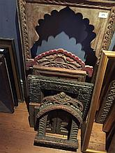 Seven Asian style timber carved frames