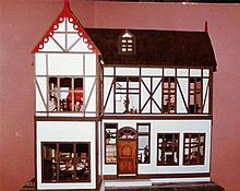 A Large Handcrafted Victorian Doll House by L.Viaggio