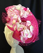 A Pink Straw Raceday Hat