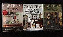 Three Volumes of Carter's Antique Price Guides