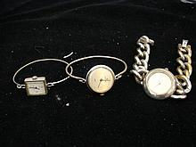 Three watches including Two Christian Bernard silver watches