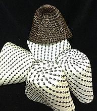 A Group of Vintage Millinery Straws made in Italy