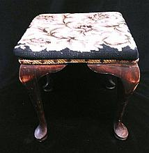 A Tapestry Upholstered Foot Stool