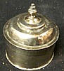 Two small Cambodian silver lidded boxes