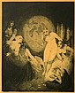 Norman Alfred Williams Lindsay (1879-1969) Beauty's Fortune 1920 Etching & stipple engraving ed. 13/50