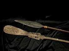 Two Massim Paddles, PNG