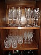 A Set of 30 Waterford Crystal Glasses (Flutes, Wines, Tumblers & Sherry)