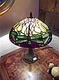 A Good Tiffany Style Dragonfly Leadlight Lamp 46cm