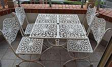 A cast aluminium five piece outdoor setting: this item is located at 83 / 6 Hale St Mosman