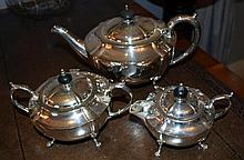 A Hecworth three piece EP tea set: this item is located at 83 / 6 Hale St Mosman