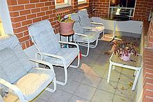 Four Tropitone outdoor armchairs and two tables: this item is located at 83 / 6 Hale St Mosman