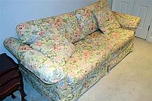 A Moran floral two seatter sofa-bed: this item is located at 83 / 6 Hale St Mosman