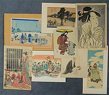 Japanese School woodblock prints various artists (8)