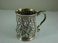 A George II sterling silver mug London 1745
