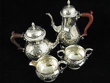 A four piece Sheffield plate Hardy Bros tea and coffee service