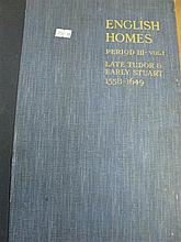 A book English Homes Period III - Volume 1 Late Tudor and Early Stuart Country Life
