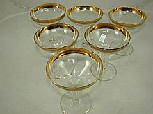 Set of 6 vintage hollow stem champagne glasses