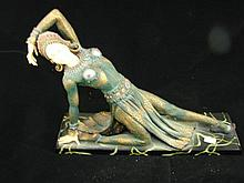 Resin Art Deco figurine