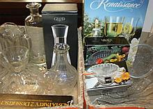 A large quantity of glassware including Rosenthal and Kosta Boda