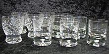 Quantity of crystal glasses