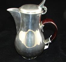 Stylish Selangor pewter water jug with timber handle