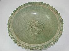 Antique celadon bowl