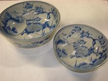 Two Chinese blue and white ceramic bowls
